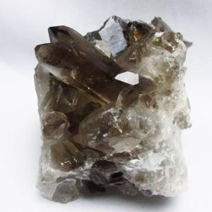 ブラジル産  モリオン 純天然 黒水晶 クラスター t143-1610 seian
