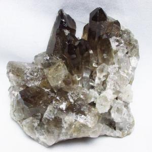 ブラジル産  モリオン 純天然 黒水晶 クラスター t143-1689 seian
