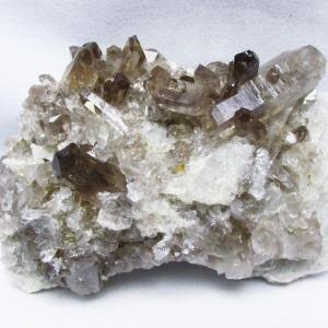 ブラジル産  モリオン 純天然 黒水晶 クラスター t143-1726|seian