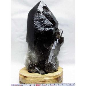 ブラジル産  モリオン 原石 本物  天然 黒水晶 クラスター 2.2Kg パワーストーン 天然石 t143-841 seian