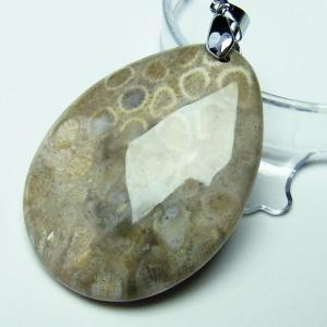 フォッシルコーラル  ペンダント   化石珊瑚 t155-1118|seian