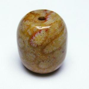 珊瑚 コーラル 円柱形 ビーズ パワーストーン 天然石 t155-1645|seian
