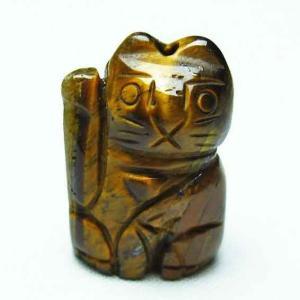 タイガーアイ招き猫 ペンダント t157-1869|seian