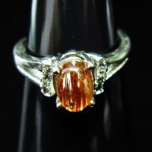 ファイナルグレードルチルクォーツ(金針ルチル水晶) 指輪 t164-3730|seian