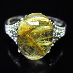 ゴールドタイチンルチル 指輪 (14号) t164-4320|seian