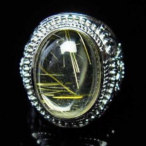 ゴールドタイチンルチル 指輪  t164-4345|seian