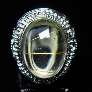 ゴールドタイチンルチル 指輪 (14号) t164-4346|seian