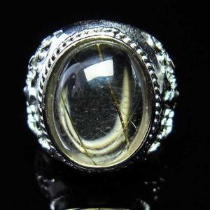 ゴールドタイチンルチル 指輪  t164-4351|seian