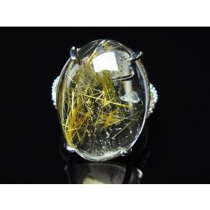 ゴールドタイチンルチル 指輪  t164-4367 seian 02