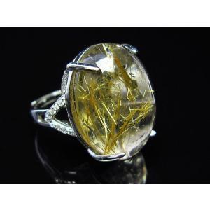 ゴールドタイチンルチル 指輪  t164-4367 seian 04