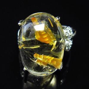 ゴールドタイチンルチル 指輪 (13号) t164-4369|seian