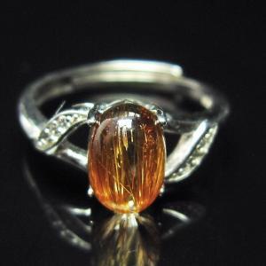 ファイナルグレードルチルクォーツ(金針ルチル水晶) 指輪  t164-4856|seian