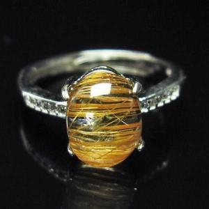 ファイナルグレードルチルクォーツ(金針ルチル水晶) 指輪  t164-4859|seian
