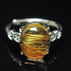 ファイナルグレードルチルクォーツ(金針ルチル水晶) 指輪 (11号) t164-4866|seian