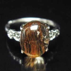 ファイナルグレードルチルクォーツ(金針ルチル水晶) 指輪 (10号) t164-4879|seian
