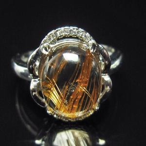 ファイナルグレードルチルクォーツ(金針ルチル水晶) 指輪  t164-4886|seian