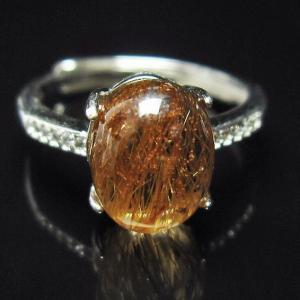 ファイナルグレードルチルクォーツ(金針ルチル水晶) 指輪 (16号) t164-4895|seian