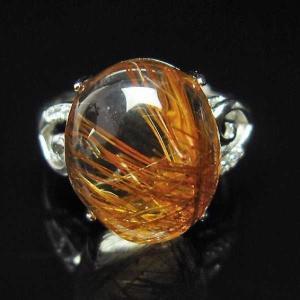 ファイナルグレードルチルクォーツ(金針ルチル水晶) 指輪 (13号) パワーストーン 天然石 t164-4900 seian
