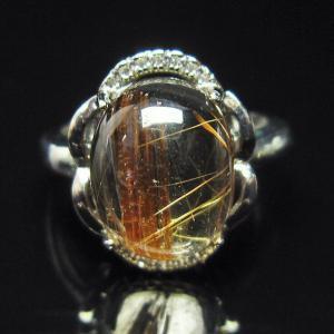 ファイナルグレードルチルクォーツ(金針ルチル水晶) 指輪 (15号) t164-4904|seian