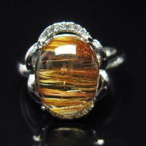 ファイナルグレードルチルクォーツ(金針ルチル水晶) 指輪  t164-4905|seian