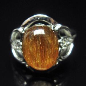 ファイナルグレードルチルクォーツ(金針ルチル水晶) 指輪  t164-4910|seian