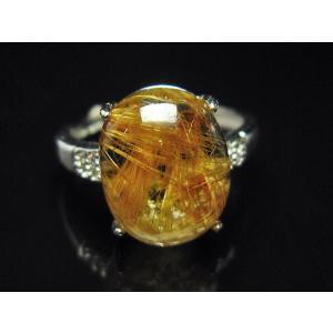 ファイナルグレードルチルクォーツ(金針ルチル水晶) 指輪 (12号) t164-4912 seian 02