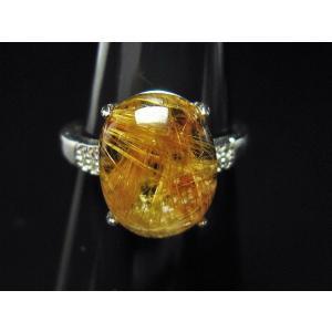 ファイナルグレードルチルクォーツ(金針ルチル水晶) 指輪 (12号) t164-4912 seian 03