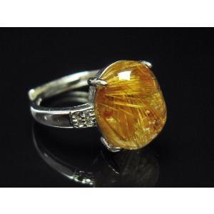 ファイナルグレードルチルクォーツ(金針ルチル水晶) 指輪 (12号) t164-4912 seian 04