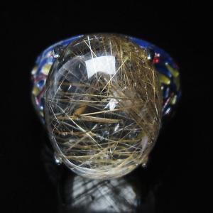 プラチナルチル入り水晶 指輪 (17号) t164-5055|seian