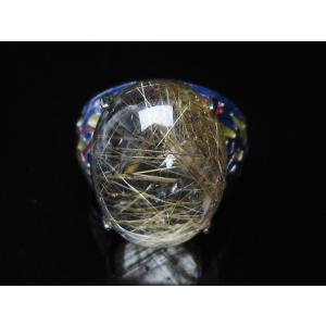 プラチナルチル入り水晶 指輪 (17号) t164-5055|seian|02
