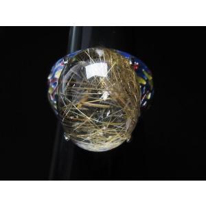 プラチナルチル入り水晶 指輪 (17号) t164-5055|seian|03