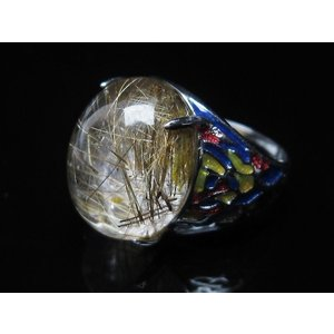 プラチナルチル入り水晶 指輪 (17号) t164-5055|seian|04