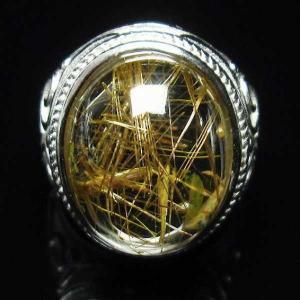 ルチルクォーツ(金針ルチル水晶) 指輪  t164-5128|seian