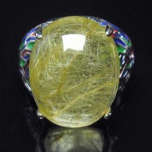 ルチルクォーツ(金針ルチル水晶) 指輪 (17号) t164-5174|seian