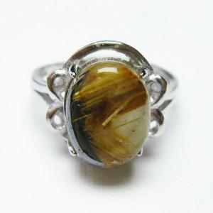 ゴールドタイチンルチル 指輪 (16号) t164-6022|seian