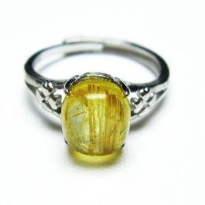 ゴールドタイチンルチル 指輪 (15号) t164-6389|seian