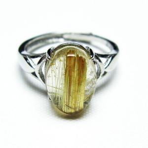 ゴールドタイチンルチル 指輪 (15号) t164-6439|seian