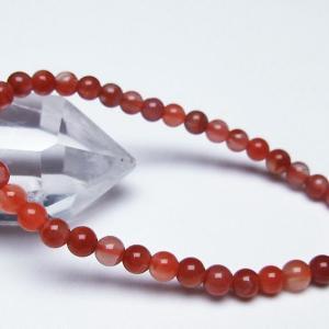 レッドアゲート 赤メノウ  ブレスレット 5mm  t187-1488|seian