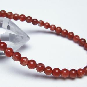 レッドアゲート 赤メノウ  ブレスレット 5mm  t187-1492|seian