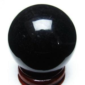 モリオン 純天然 黒水晶  丸玉 38mm t220-2767|seian