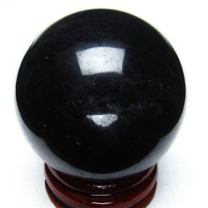 モリオン 純天然 黒水晶  丸玉 40mm t220-2985|seian
