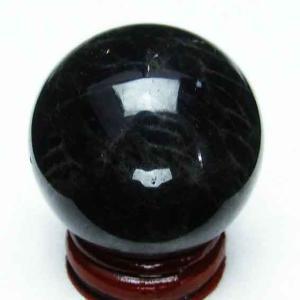 モリオン 純天然 黒水晶  丸玉 39mm t220-3035|seian