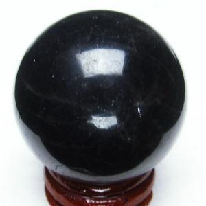モリオン 純天然 黒水晶  丸玉 41mm t220-3194|seian