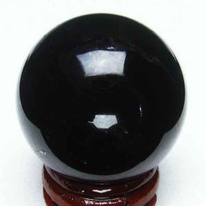 モリオン 純天然 黒水晶  丸玉 38mm t220-3278|seian