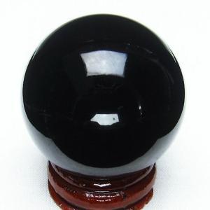 モリオン 純天然 黒水晶  丸玉 40mm t220-3289|seian
