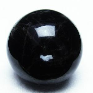 モリオン 純天然 黒水晶  丸玉 46mm t220-3387|seian