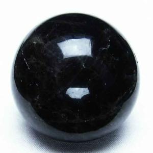 モリオン 純天然 黒水晶  丸玉 44mm t220-3406|seian