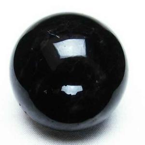 モリオン 純天然 黒水晶  丸玉 41mm t220-3491|seian