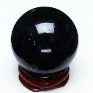 モリオン 純天然 黒水晶  丸玉 35mm t220-3542|seian