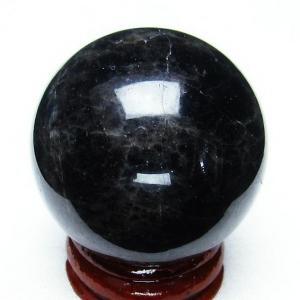 モリオン 純天然 黒水晶  丸玉 39mm t220-3657|seian